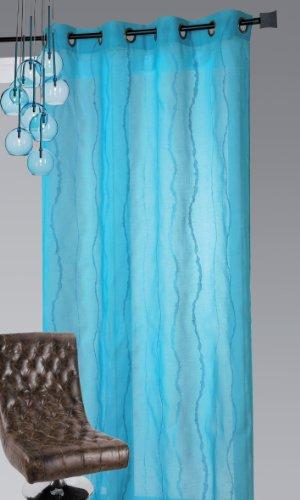 Homemaison -3 Vorhang, Polyester, längs in Wellenform Bestickt 0,2 x 140 x 240 cm, Lila