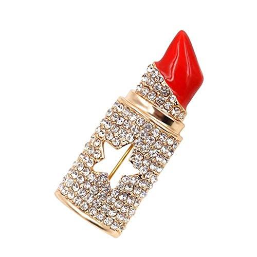 3°Amy Brosche Brosche Schleife Anstecknadeln Lippenstift Brosche Modeschmuck for Frauen sexy und elegante Design Brosche Brosche Erklärung Sommer (Color : Multi-colored, Size : One size)
