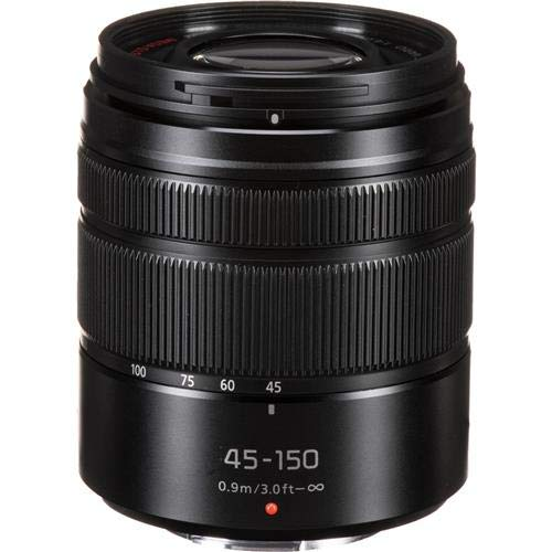 Panasonic LUMIX G VARIO 45-150mm F4.0-5.6 ASPH Mirrorless Camera Lens with Optical Stabilizer, Micro Four Thirds Mount, H-FS45150AK (USA Black)