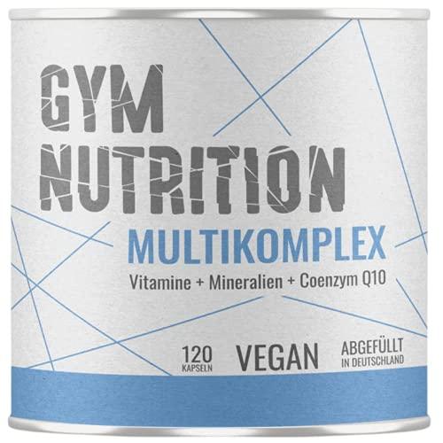 Multimineral Komplex – Laborgeprüft - 120 Kapseln – Vegan – Vitamine - plus Spuren-Elemente & Q10 – Vitamin-Präparat mit Mineralien — vegan, hochdosiert, Made in Germany — 120 Kapseln