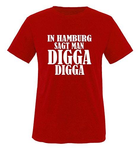 Funshirts-Company À Hambourg Dit de Vous Digga-t-Shirt pour Enfant Taille de 86 à 164 cm (différents Coloris)
