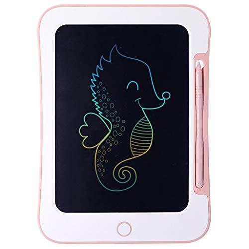 JYLJL Gráficos LCD Colorido De La Tableta Portátil Mini Tablero De Escritura A Mano Bloc De Dibujo Tableta con Bloqueo De Memoria Adecuado For Los Niños (Color : Pink)