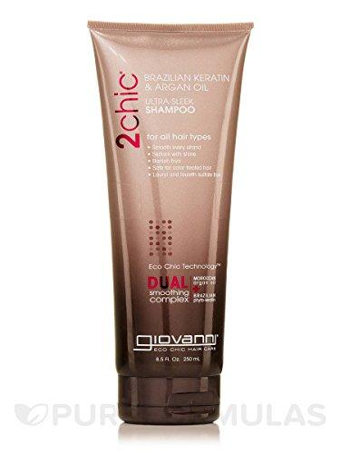 Giovanni 2chic Ultra-Sleek Shampoo mit brasilianischem Keratin und Arganöl, 227 ml