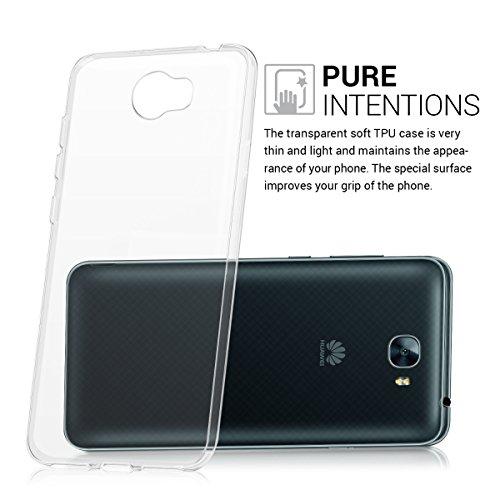 kwmobile Huawei Y6 II Compact (2016) Hülle - Handyhülle für Huawei Y6 II Compact (2016) - Handy Case in Transparent - 3