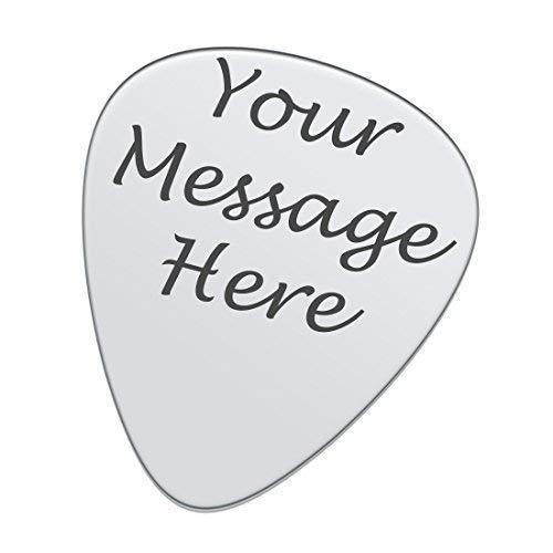 Personnalisé Gravé Personnalisé Plectre de Guitare Pick Argent Acier Inoxydable Steele Gravure Gratuite