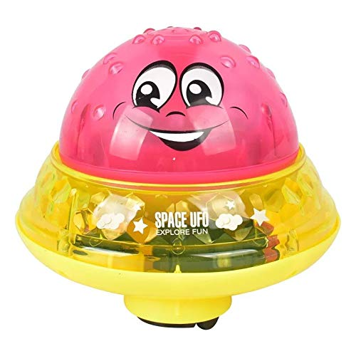 SYFO Juguete Funny Infant Bath Toys Baby Electric Induction Sprinkler Ball con música Ligera Niños Niños Play Play Ball Bañera Juguetes Niños Regalos (Color : Red Ball with Base)