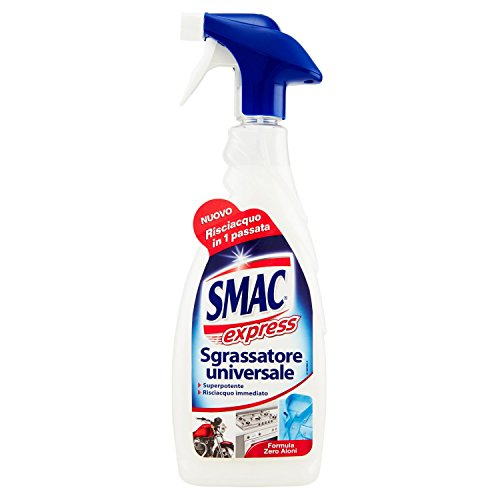 Smac Express - Sgrassatore Universale, Detergente Spray Multisuperficie con Azione Sgrassante, 650 ml