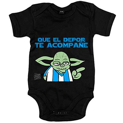 Body bebé que el Depor te acompañe - Negro, 6-12 meses