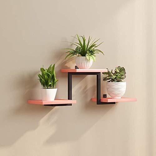 YLongFEI Bloemenstandaard, smeedijzer, bloempot, rek, wand-hangen-bloemen-muur, meerlaagse steiger, plank, bloemen-standplaats-decoratie, multicolor optioneel
