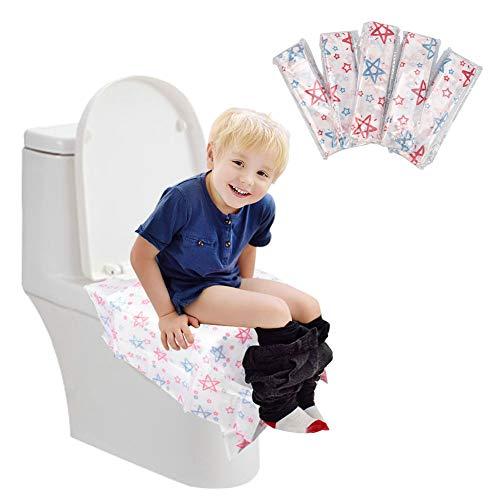 Einweg-Toilettensitzbezüge aus Papier - 20 Pack ungen große Größe rutschfest reinigen Toiletten-Abdeckungen Reise einzeln verpackt Wasserdicht Tragbare Töpfchen-Abdeckung für Kinder Kleinkinder
