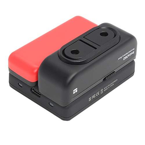TOOGOO para Insta 360 Dual Charger Fast Charge Hub para One R Base de BateríA/Base de BateríA Reforzada Accesorios de Carga