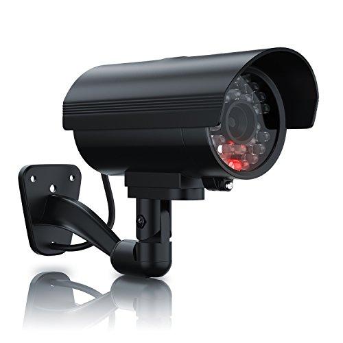 Brandson - Cámara Falsa de vigilancia - Cámara de Seguridad ficticia - Cámara de videovigilancia Falsa - Pantalla LED - Diseño Original - Led Rojo Intermitente