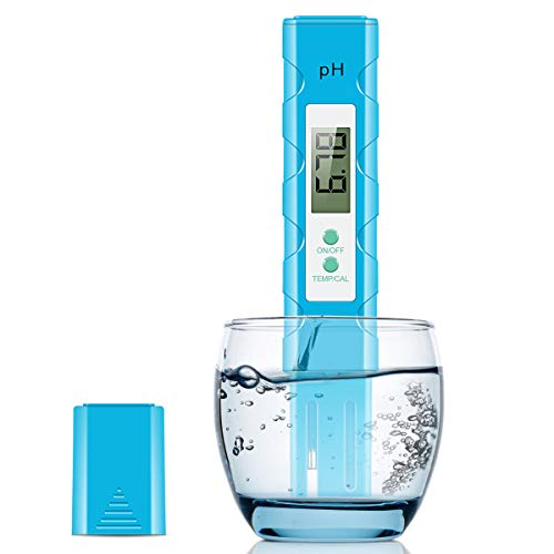 JulyPanny Digital PH Meter, 0.01 PH High Accuracy Water Quality Tester, PH Meter with 0-14 PH Measurement Range - Test Kit for Household Drinking, Pool and Aquarium Water, PH Tester