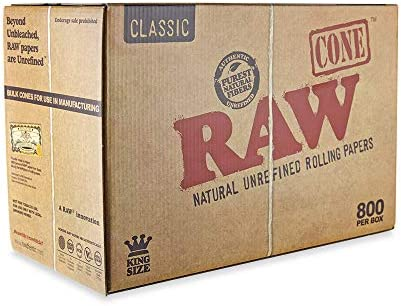 RAW Prerolled Cones 800 Count King Size Natural Classic Unrefined Rolling Papers product image