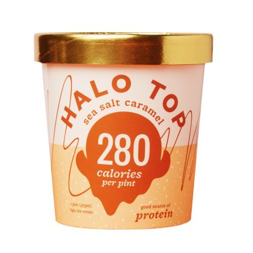 Halo Top, Peanut Butter Cup Ice Cream, Pint (Pack of 8)
