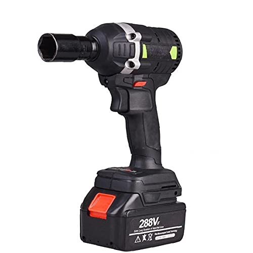Elettrico chiave Cordless Drill cacciavite Brushless Impact Wrench Large Power Tool Nero EU Plug