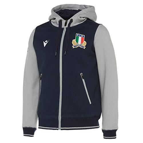 Macron Italia Rugby - Felpa Bambino Full Zip (S (6-7 Anni))