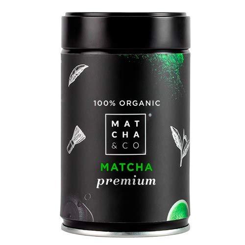 Matcha Premium 100% Ecológico | Té verde en polvo Orgánico de Japón | Té Matcha de grado ceremonial premium BIO | Matcha & CO (80 g)