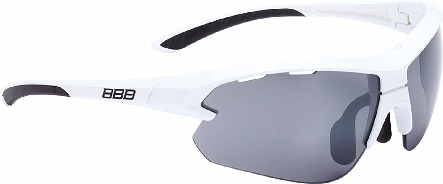 BBB BSG-52S Impulse Small Fit Sport Glasses Glossy White Frame Smoked Lens