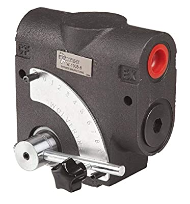 """Prince Pressure Compensated Flow Control Valve: 0-16 GPM, 3000 PSI Max, 1500 PSI Relief Setting with 1/2"""" NPT Port Size and Standard 3 Port from Prince"""
