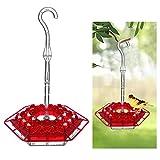 Pppby 1 Pieza de Comedero para pájaros Colgante al Aire Libre con diseño de Apariencia Hexagonal Portátil Accesorio de Jaula para alimentador de pájaros Colgante Bueno para Aves