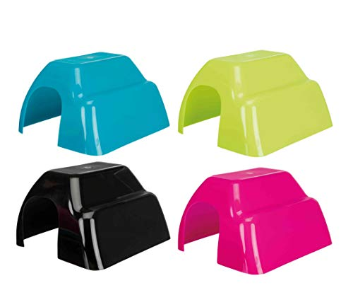 TRIXIE Casita Plástico Roedores, Color Surtido, 26 x 13 x 15 cm, Pequeños Mamíferos