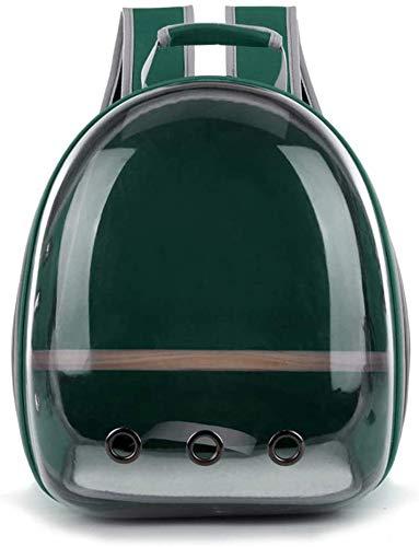 longsheng Haustier-Transporttasche für Papageien, Reisekapsel, atmungsaktiv, 360° Sightseeing, Grün
