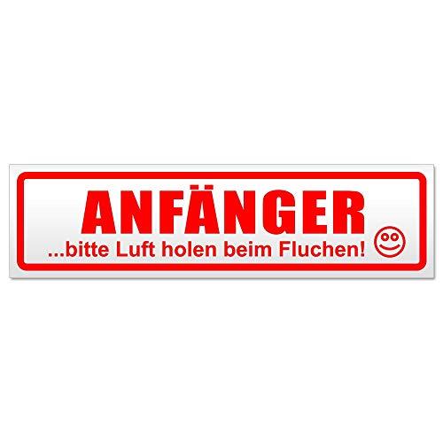 Kiwistar Anfänger - Bitte Luft Magnetschild Schild magnetisch