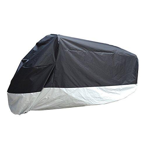 Fast Pro Housse de protection anti-vol pour moto Noir/argenté 200,7 x 88,9 x 99,1 cm