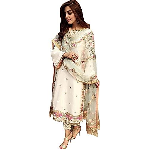 JIVRAJ FASHION Der pakistanische Designer Shalwar Kameez Hosenhose passt zum indischen Hochzeitsempfang. Tragen Sie ein Salwar Kameez Kleid...