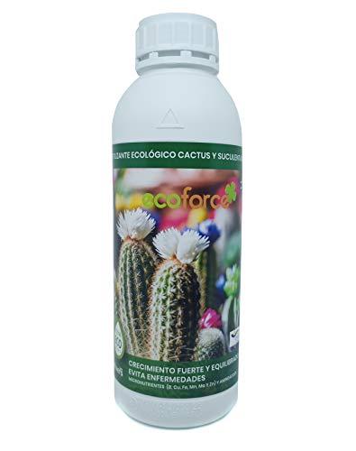 CULTIVERS Fertilizante Liquido Ecológico Cactus y Crasas 1 L. Crecimiento Saludable con...