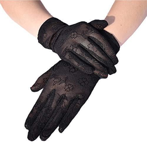 Mesh Ademende Handschoenen Outdoor UV-proof Rijscherm Show Party Huishouden Zomer Zon Bescherming Fiets Fietshandschoenen Guantes-black