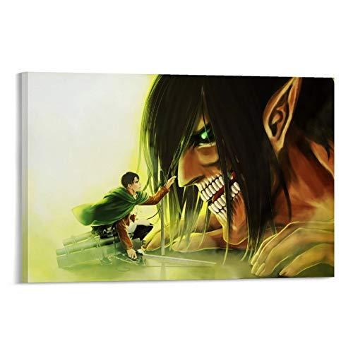 Póster decorativo de Attack on Titan, Levi Eren Titan, pintura decorativa para pared, para sala de estar, dormitorio, 20 x 30 cm