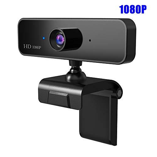 Webcam 1080P, Cámara HD Webcam De Enfoque Automático Web con Micrófono para El Ordenador Portátil Streaming Juegos Conferencia Mac PC con Windows