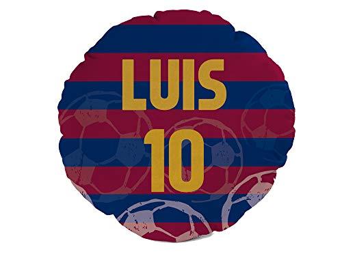 Oedim Cojín Fútbol Barcelona Personalizado   35 x 35 cm   Fabricado en Display 225gr   Relleno Incluido