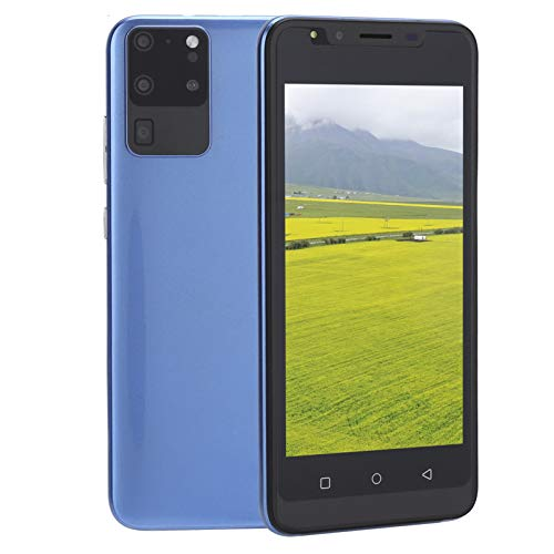 Teléfonos Inteligentes desbloqueados de 5.0 Pulgadas, teléfono móvil de 512 MB + 4 GB, Pantalla Completa HD, teléfono Inteligente con desbloqueo de Huellas Dactilares(Azul)