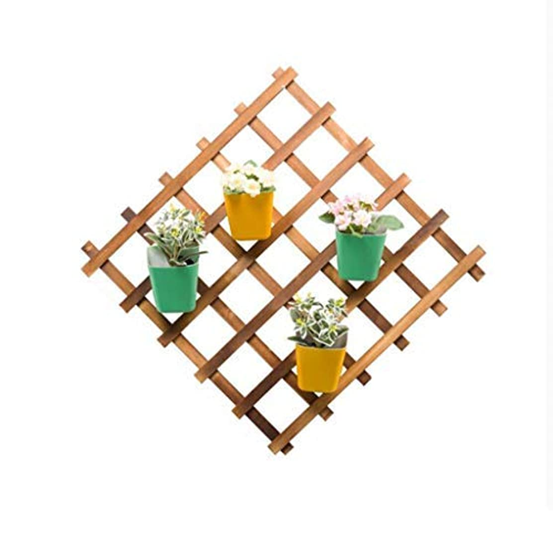 ZHAS Decorative Plant Stand Wall-Mounted Foldable Wooden Plant Pots Rack Shelf Unit Display Succulent Stand Flower Shelf Planter Basket for Patio Indoor Outdoor Yard