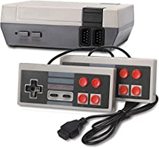 Retro Game Console, Classic 8-bit Video Game Built-in 620 Games with 2 Controllers for NES Style (NOT OEM, AV Output)