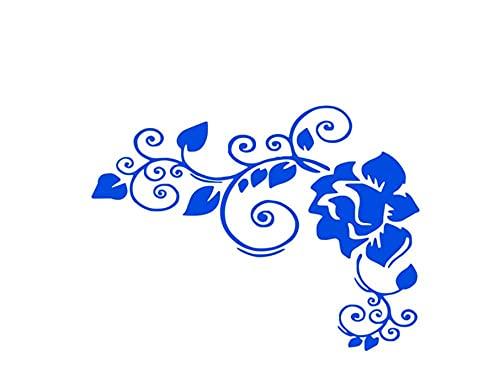 Pegatinas Coche 12Cm X 16Cm Flores De Diseño Artístico Pegatinas Y Calcomanías Para Automóviles Aut Ambas Envolturas Corporales Película De Vinilo Productos Para Automóviles Decoración Accesorios Par