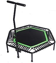 Oefening Trampoline Fitness Trampoline met Leuning, Indoor Trampoline Verstelbare Mini Trampoline Oefening Trampoline Stil...