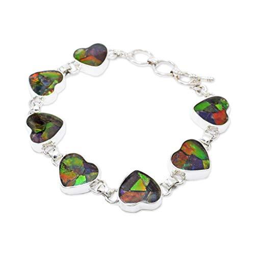 Starborn Ammolite Stone Bracelet (8.75') Green