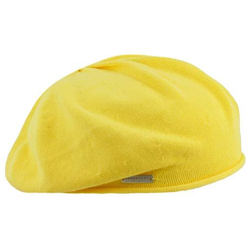 Seeberger Rollrand Baskenmütze Damenmütze Sommermütze Mütze Baske Damenbaske Indoormütze (Vanilla)