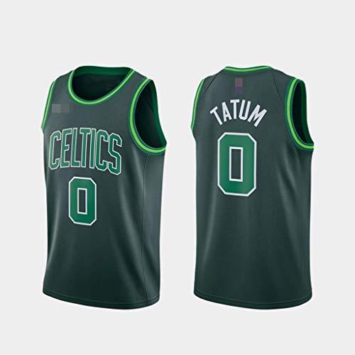 YZQ Jerseys De Baloncesto De Los Hombres, NBA Boston Celtics # 0 Jayson Tatum -Clásico Comfort Chalecos Transpirables Camiseta Uniformes Deportivos Tops,Verde,M(170~175CM)