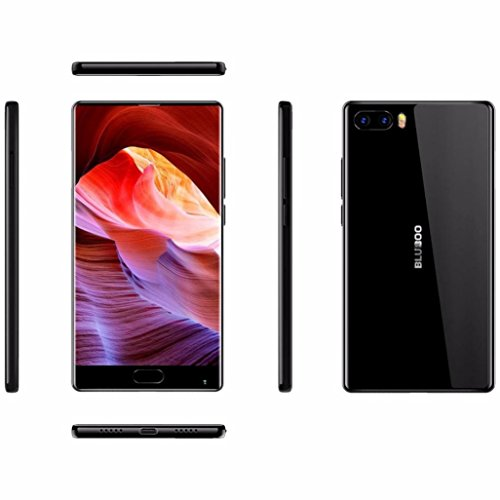 Gaddrt Bluboo Android 7.0Smartphone 4G teléfonos móviles de 64GB ROM Core teléfono Celular con cámara Dual 4G–5.5Inch, Negro