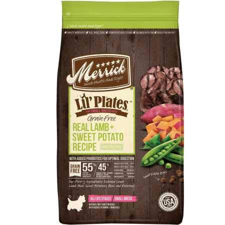 Merrick Lil' Plates Small Breed Real Lamb Sweet Potato Recipe Dry...