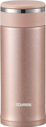 Zojirushi SM-JTE34PX Stainless Steel Travel Mug with Tea Leaf Filter, 11-Ounce/0.34-Liter, Pink Champagne (Renewed)