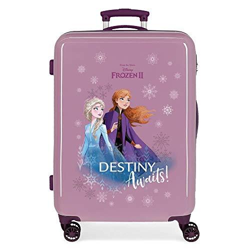 Disney Frozen Destiny awaits Maleta mediana Morado 48x64x26 cms Rígida ABS Cierre combinación 61L 3,4Kgs 4 ruedas dobles