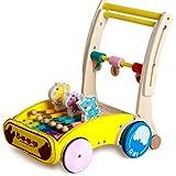 LFFME Andador Infantil Más Nuevo, Andador De Movilidad Durante 1-3 Años, Andador De Madera para Evitar Colisiones/Andador Fácil Plegable/Velocidad Ajustable,B