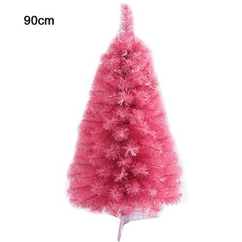 PovKeever - Árbol de Navidad artificial (2/3 pies), color rosa