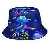 AJOR Acuario de medusas pescado alga marina Unisex Bucket Hat Flat Top Fisherman Hat Gorra al aire libre